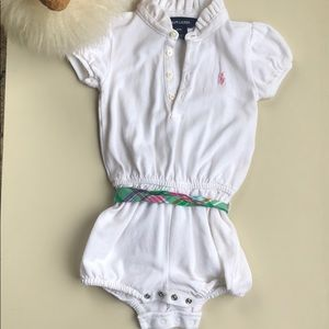 Ralph Lauren White Romper with Belt